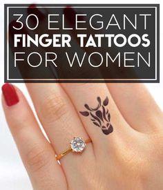 30 Elegant Finger Tattoos For Women | TATTOOBLEND