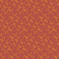 The Wallpaper Company - 20.5 In. W Orange Modern Small Swirl and Leaf Wallpaper - WC1280013 - Home Depot Canada