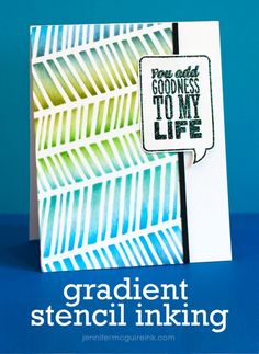 Gradient Inking Video by Jennifer McGuire Ink