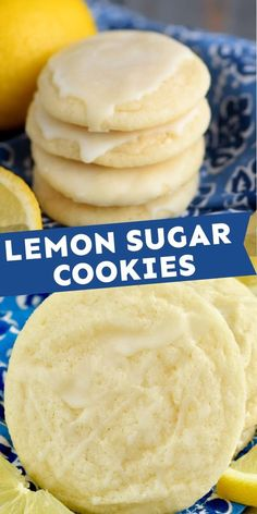 Easy Cookie Recipes, Sweet Recipes, Baking Recipes, Dessert Recipes, Lemon Sugar Cookies, Sugar Cookies Recipe, Lemon Cookies Easy, Lemon Desserts, Delicious Desserts