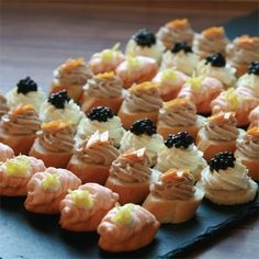 Mouthwatering cold canapes from Bertrand Munier are guaranteed to set the mood for your event. Choose from a variety of delicious cold canapes for you party and get them delivered to your doorstep. Canapes Recipes, Appetizer Recipes, Appetizers, Catering, Mini Chocolate Cheesecake, Gluten Free Puff Pastry, High Tea, Clean Eating Snacks, Afternoon Tea