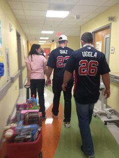 Santa Uggla and Santa Diaz are spreading the cheer - Christmas in July