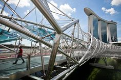 11 Pedestrian Bridges For Your Next Urban Trek image gallery. Enjoy A Stop Mid Bridge, They Make Getting Around So Much More Fun Find more authentic curated albums at Getty Images. Island Rose, Pedestrian, Marina Bay Sands, Trek, Urban, Ponti, Gallery, Pictures, Bridges
