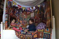 Den building challenge-11th-19th Feb. What a fabulous den just makes you want to curl up and read.