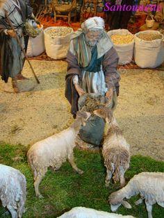 Suite de la découverte d'une crèche Orientale d'Angela Tripi - Pendant ce temps les bergers prennent soin de leurs bêtes.
