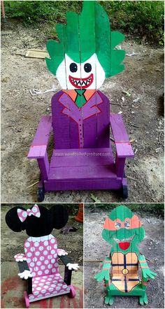 Not only for the adults, we also have gathered the ideas for creating the chairs for kids with the cartoon theme non which they will love to sit. Their room can be decorated with the chairs which will make the area attractive.