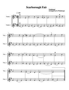 Scarborough Fair For Two Violins http://www.rozannasviolins.com