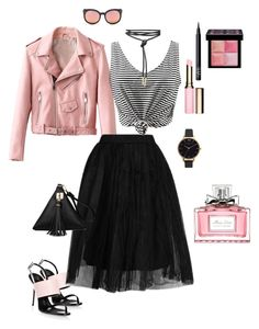 """""""Untitled #402"""" by ulusia-1 ❤ liked on Polyvore featuring Spektre, Giuseppe Zanotti, Topshop, NARS Cosmetics, Givenchy, Clarins, Christian Dior and Olivia Burton"""