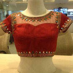 Diy trendy saree blouse designs for silk sarees 2018 - artsycraftsydad Blouse Back Neck Designs, Netted Blouse Designs, Best Blouse Designs, Simple Blouse Designs, Stylish Blouse Design, Bridal Blouse Designs, New Saree Blouse Designs, Golden Blouse Designs, Indian Blouse Designs