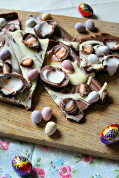 Cadbury Creme Egg & Mini Egg Easter Chocolate Slab - scarletscorchdroppers