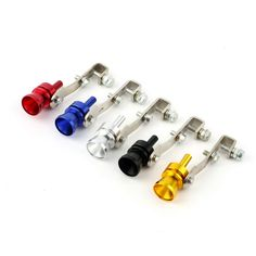Hot deals on Universal Turbo whistle sound exhaust pipe exhaust BOV blow-off valve Simulator aluminum size M free shipping