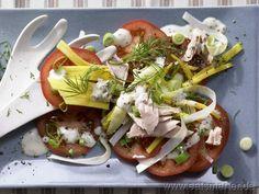 Schön bunt, schön knackig und einfach köstlich: Thunfischsalat - smarter - mit Mango, Tomaten und Chicorée. Kalorien: 290 Kcal   Zeit: 20 min. #salad