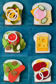Felt Food Patterns - Lots of them!    The 3D foods would be fun for our play & learns...lots of good opportunities to exercise those narrative skills!