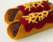 Felt Food Pretend Play Enchiladas, Mexican Food, Play Kitchen