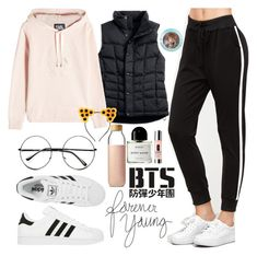 """Go Go - BTS"" by princess-malik-styles ❤ liked on Polyvore featuring L.L.Bean, Karl Lagerfeld, adidas, Retrò, Soma, Byredo, Clinique, amazayn and spreadlove"