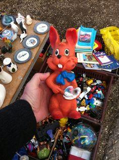 Flea Market Vienna. Vintage Toy. #vintagetoy #rubbertoy #squeakytoy #pouet #delacoste #ledraplastic