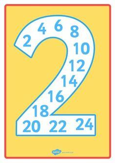LA TABLA DEL 2 Alphabet Worksheets, Kindergarten Worksheets, Multiplication Games, School Frame, Interactive Notebooks, Teaching Math, First Grade, Fun Learning, Special Education