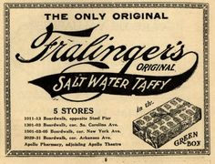 Fralinger's Salt Water Taffy Ad.