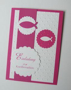 Einladungskarte-Konfirmation-Kommunion-Firmung 159 von CV Kartenwelt auf DaWanda.com