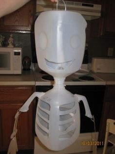 Halloween Crafts made from milk cartons