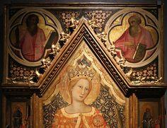 Giovanni del biondo, santa caterina d'alessandria coi donatori e scene della sua vita, 1390-1410 ca. 02.JPG