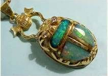 opal in Egyptian scarab  pendant setting I love this one!!