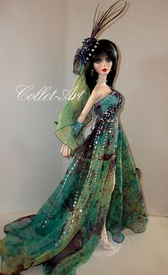 "https://flic.kr/p/pZcg7b | Tonner Wilde Imagination 18.5"" Evangeline Ghastly Parnilla Gown OOAK ""Dare to be Risque"" Collet-Art"