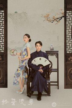 Pre Wedding Photoshoot, Wedding Poses, Wedding Backdrop Design, Studio Portrait Photography, Asian Wedding Dress, Traditional Fashion, Oriental Fashion, Wedding Photo Inspiration, Cute Wallpapers