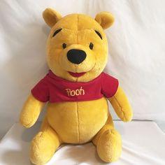 "Winnie the Pooh Bear Mattel Disney Plush Stuffed Animal Toy 20"" Tall #MattelDisney"