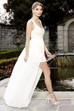 Make Way for Wonderful Ivory Lace Maxi Dress at Lulus.com!