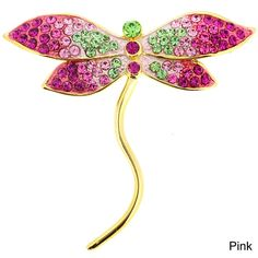 Silvertone Crystal Dragonfly Brooch Pin ($27) ❤ liked on Polyvore featuring jewelry, brooches, dragonfly pin brooch, swarovski crystal jewelry, swarovski crystal brooch, swarovski crystal jewellery and silver tone jewelry