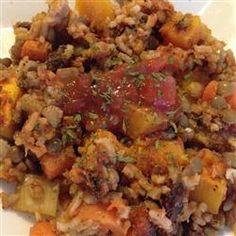 Lentil Rice and Veggie Bake Allrecipes.com