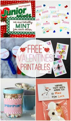 FREE Valentine Printables - a collection of cute valentines that can be printed for FREE on { lilluna.com }