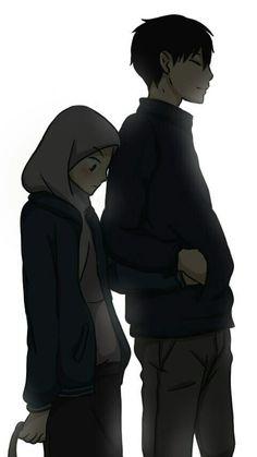 S pin muslim couples animated ❤ anime çiftler, müslü Cute Couple Drawings, Cute Couple Art, Anime Love Couple, Couple Cartoon, Cute Muslim Couples, Cute Anime Couples, Cover Wattpad, Muslim Pictures, Islamic Cartoon