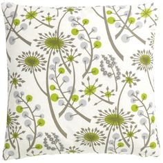 Hedgegrow decorative cushion cover in green and grey for our living room