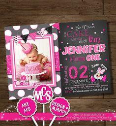MINNIE MOUSE INVITATION, Minnie Mouse Card, Birthday Card, Party Invitation, Disney Invitation, Pink, Chalkboard, Chalkboard Invitation