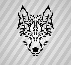 Tribal Wolf Symmetric Svg Dxf Eps Silhouette Rld RDWorks Pdf