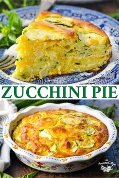 Easy Zucchini Recipes, Zucchini Pie, Vegetable Recipes, Vegetarian Recipes, Cooking Recipes, Healthy Recipes, Zucchini Casserole, Recipe Using Zucchini, Healthy Foods