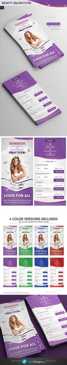 Beauty Flyer Template Vol  Flyer Template And Graphics