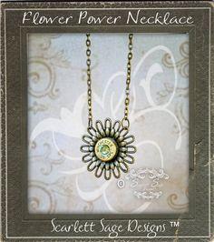 Flower Bullet Necklace Gun Bullet Jewelry by ScarlettSage on Etsy, $22.50