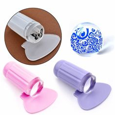 Transparent Clear Silicone Nail Art  Polish Stamper Stamping Printer  Plate Scraper Set  Worldwide delivery. Original best quality product for 70% of it's real price. Buying this product is extra profitable, because we have good production source. 1 day products dispatch from...