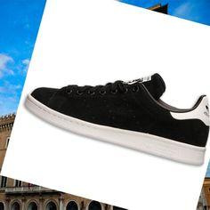 Formazione scarpe Uomo Adidas Stan Smith Nero Bianco 4cf6a1a0fe8