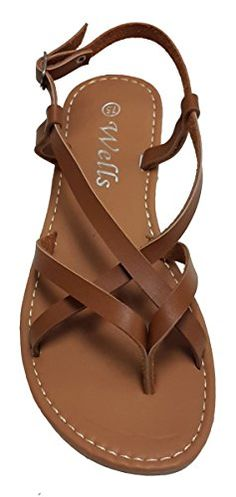733dbe4c0 Elegant Womens Fashion Criss Cross Strappy Camel Color Gladiator Flat  Sandals Camel 10 M US