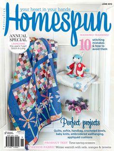 Australian Homespun magazine June 2013 issue.