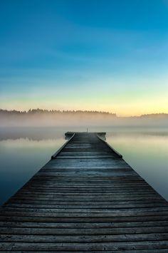 Dock at Scott lake | Washington (by Ronald Le Brun)
