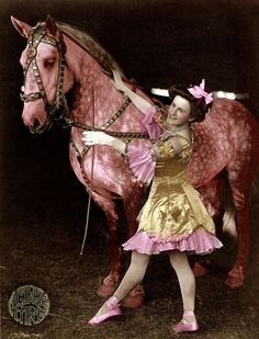 Stunning photograph of a Circus Performer in the early 1900's.