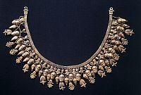 ARCHAEOLOGY.   Braided necklace, from Ruvo di Puglia (Puglia). Etruscan Civilization, 5th Century BC.