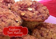 Raspberry Beet Muffins | OAMC from Once A Month Mom