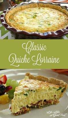 This easy quiche recipe is perfect for brunch, lunch or dinner. Loaded Baked Potato Quiche has all your favorite fixin's. Breakfast Quiche, Breakfast Dishes, Breakfast Recipes, Dessert Recipes, Quiches, Good Food, Yummy Food, Quiche Recipes, Best Quiche Recipe Ever