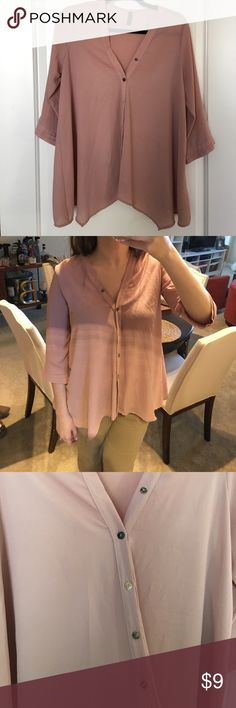 Dusty Rose Flowy Top Purchased from a boutique. Final Touch Tops Blouses